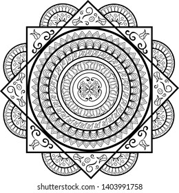 a20574c77 Mandala vector abstract illustration. Concept for print, textile, logo, web  design