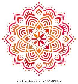 Mandala. Vector Circle Ornament. Design Element