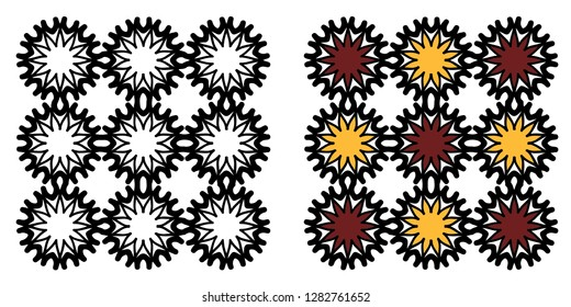 Mandala vector with color