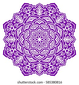 Mandala. Vector Ethnic Oriental Circle Ornament.