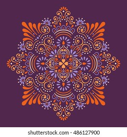 Mandala, Vector Mandala, floral mandala, flower mandala, oriental mandala, coloring mandala. Oriental pattern, vector illustration. Islam, Arabic, Indian, turkish, pakistan, chinese, ottoman motifs
