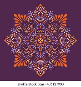 Mandala, Vector Mandala, floral mandala, flower mandala, oriental mandala, coloring mandala. Oriental pattern, vector illustration. Islam, Arabic, Indian, turkish, pakistan, chinese, ottoman motifs