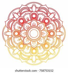 Mandala vector illustration. Color hand drawn elements.