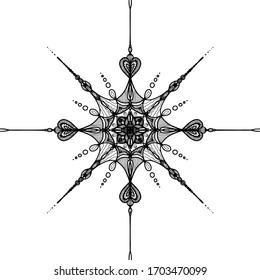 Mandala  Vector illustration. Trendy style design yoga, tatto