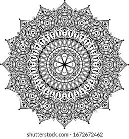 Mandala vector. India. Geometry. Ornament. Decoration. Tattoo
