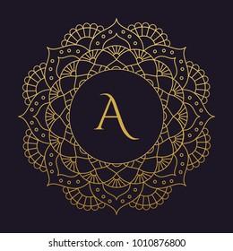 mandala - vector logo/icon illustration