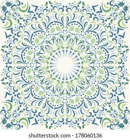 mandala, vector seamless pattern