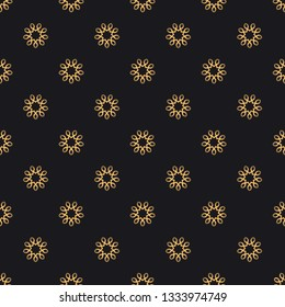 Mandala vector seamless pattern. Luxury ornate background with golden arabic elements on black background. Premium texture for prints and decor