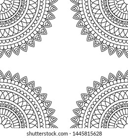 Mandala Vintage decorative elements. Hand drawn background. Islam, Arabic, Indian, ottoman motifs. Perfect for printing on fabric or paper.