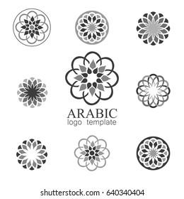 Mandalas collection. Arabic ornament vector round pattern elements.