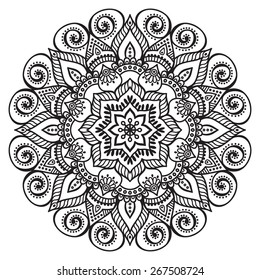 Mandalas collection. Round Ornament Pattern. Vintage decorative elements. Hand drawn background. Islam, Arabic, Indian, ottoman motifs.