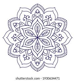Mandalas for coloring book. Decorative round ornaments. Vintage decorative elements. Oriental pattern, vector illustration. mandala for Henna, Mehndi, tattoo, decoration.