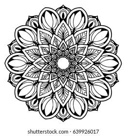 Mandalas For Coloring Book Decorative Round Ornaments Unusual Flower Shape Oriental Vector