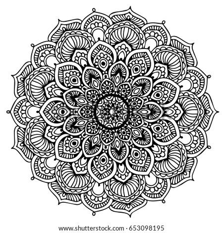 Mandalas Coloring Book Decorative Round Ornaments Stock Vector ...