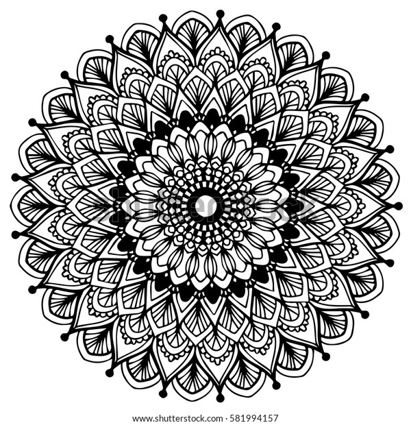 Mandalas for coloring book. Decorative round ornaments. Unusual flower shape. Oriental vector, Anti-stress therapy patterns. Weave design elements. Yoga logos Vector.