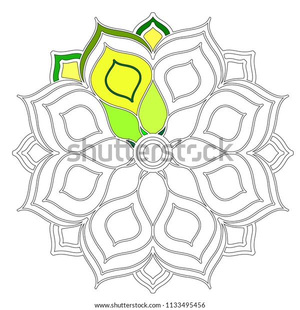 Mandalas Coloring Pages Kids Mandala Flower Stock Vector Royalty