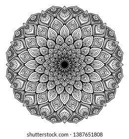 Mandalas Round for coloring  book. Decorative round ornaments. Unusual flower shape. Oriental vector, Anti-stress therapy patterns. Weave design elements. Yoga logos Vector.