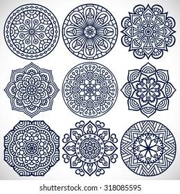 Vectores Imágenes Y Arte Vectorial De Stock Sobre Mandalas
