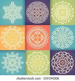 Mandalas. Vintage decorative elements. Oriental pattern, vector illustration.  Islam, Arabic, Indian, turkish, pakistan, chinese, ottoman motifs