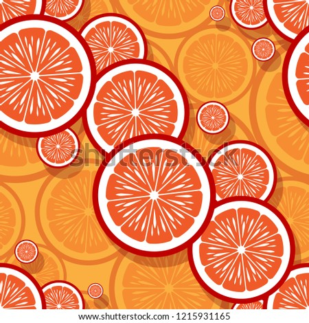 Mandarin orange fruit slice seamless pattern graphics. Vector illustration. Ideal for wallpaper, packaging