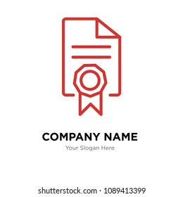mandate company logo design template, Business corporate vector icon, mandate symbol