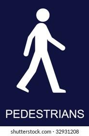 Mandatory Pedestrian Sign