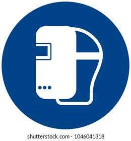 Mandatory sign vector - Wear welding mask symbol, label, sticker