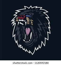 mandrill/monkey/gorilla/baboon esport gaming mascot logo template