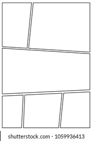 manga storyboard layout template for rapidly create the comic book style. A4 design of paper ratio is fit for print out. Enhance the efficiency for comic production