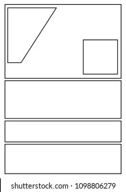 manga storyboard layout template for rapidly create the comic book style. A4 design of paper ratio fits for print out.