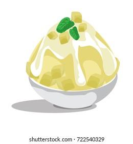 mango bingsu korean dessert