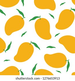 Mango seamless pattern vector on white background