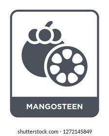 mangosteen icon vector on white background, mangosteen trendy filled icons from Fruits and vegetables collection, mangosteen simple element illustration