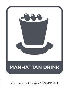 manhattan drink icon vector on white background, manhattan drink simple element illustration