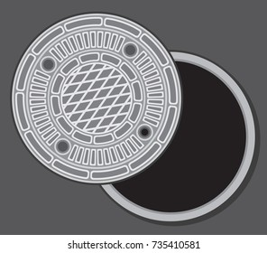 manhole street cover vector illustration