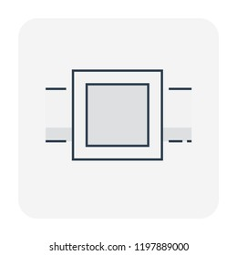 Manhole or sump pit icon for drainage system, editable stroke.