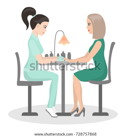 Manicure Customer Service Beauty Salon Nail Stock Vector Royalty