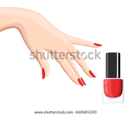 Manicure Design Set Colorful Texture Nail Stock Vector Royalty Free