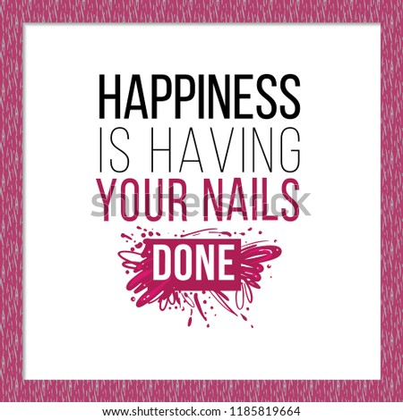 Manicure salon symbol happiness having nails stock vector for Uniform spa vector
