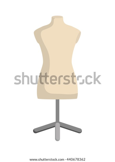 manikin icon. Tailor and Sewing. Vector graphic