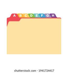 Manila Yellow Folder Vector, Yellow Folder, Office Folder, Folder Organizer, Document Icon, File Cabinet Paper, Vector Illustration