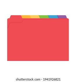 Manila Yellow Folder Vector, Yellow Folder, Office Folder, Folder Organizer, Document Icon, Vector Illustration