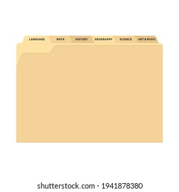 Manila Yellow Folder Vector, Yellow Folder, School Binder, Office Folder, Folder Organizer, Document Icon, File Cabinet Paper, Vector Illustration