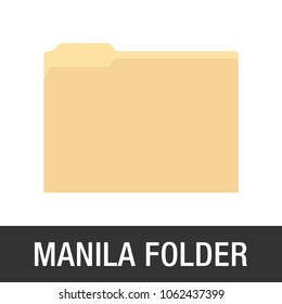 Manilla Yellow Folder Icon Vector Illustration