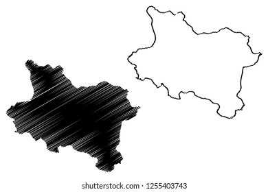 Manisa (Provinces of the Republic of Turkey) map vector illustration, scribble sketch Manisa ili map