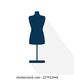 Mannequin icon. Flat design. Vector illustration