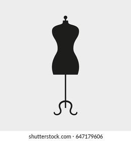 Mannequin icon on white background. Vector illustration.