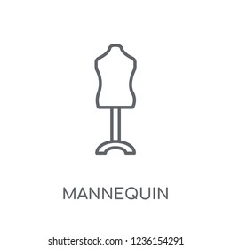 Mannequin linear icon. Modern outline Mannequin logo concept on white background from Clothes collection. Suitable for use on web apps, mobile apps and print media.
