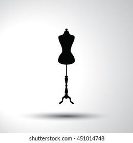 Mannequin sign flat icon illustration