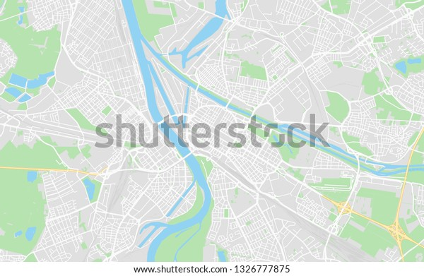 Map Of Germany Mannheim.Mannheim Germany Printable Street Map Classic Stock Vector Royalty